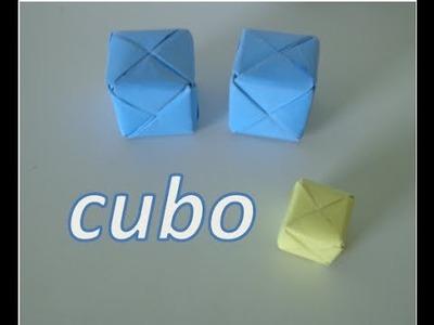 Cómo hacer el cubo de origami