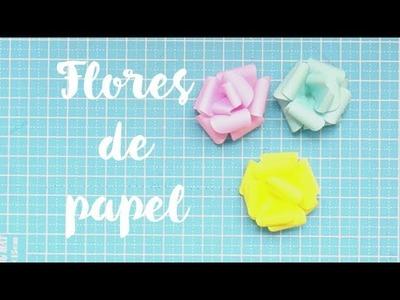 Cómo hacer flores de papel (Rosas de papel)