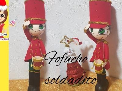 COMO HACER FOFUCHO SOLDADITO NAVIDEÑO