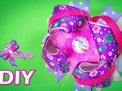 Como hacer Moños: Lazo Boutique Multicolor | Video# 75 | SDetalles | DIY