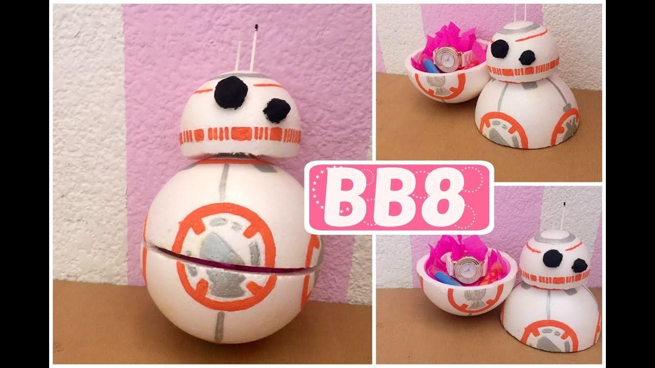 Como hacer  tu propio BB8 de unicel | Star Wars | - Brenda PE