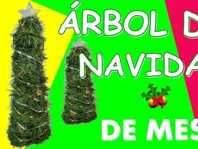 Cómo hacer un mini árbol de navidad con luces led. Mini árbol navideño ????