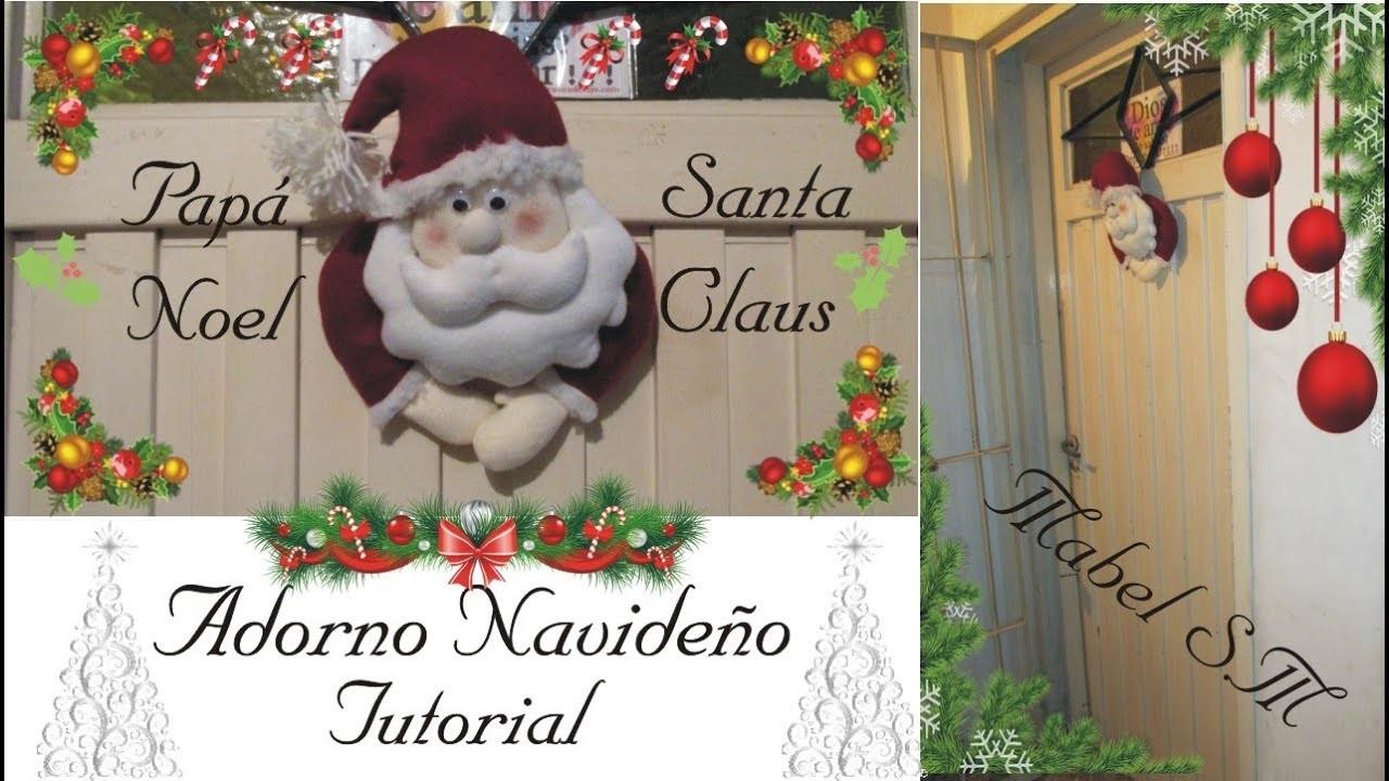 Cómo hacer un Papá Noel para colgar en tu puerta - Fácil