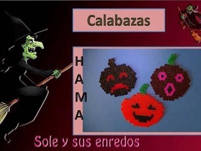 Cómo hacer una Calabaza con   Hama Beads