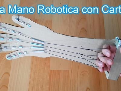 Como Hacer una Mano Robotica en tu Casa con Carton | Inventos Caseros