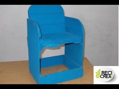 Como hacer una silla bebe (con cajas de fruta)