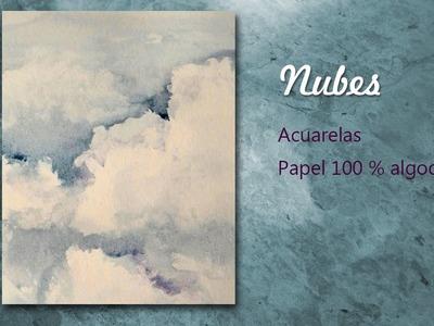 Como pintando Nubes a la acuarela