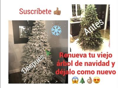 ❄️????????????????????Cómo ponerle nieve artificial a tu árbol de navidad.déjalo como nuevo ????????????????????