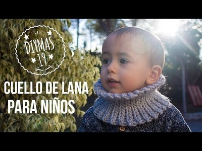 Cuello de lana a crocher para niños en tejido elástico