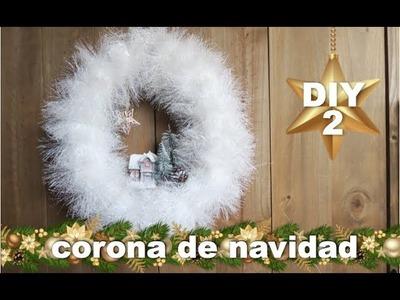 DECORACION NAVIDEÑA   COMO HACER UNA CORONA DE NAVIDAD