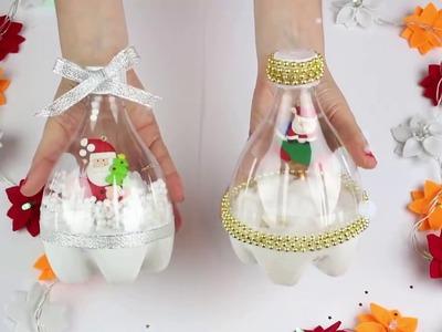 Decoración navideña con una botella de plástico - Navidad a la Carta