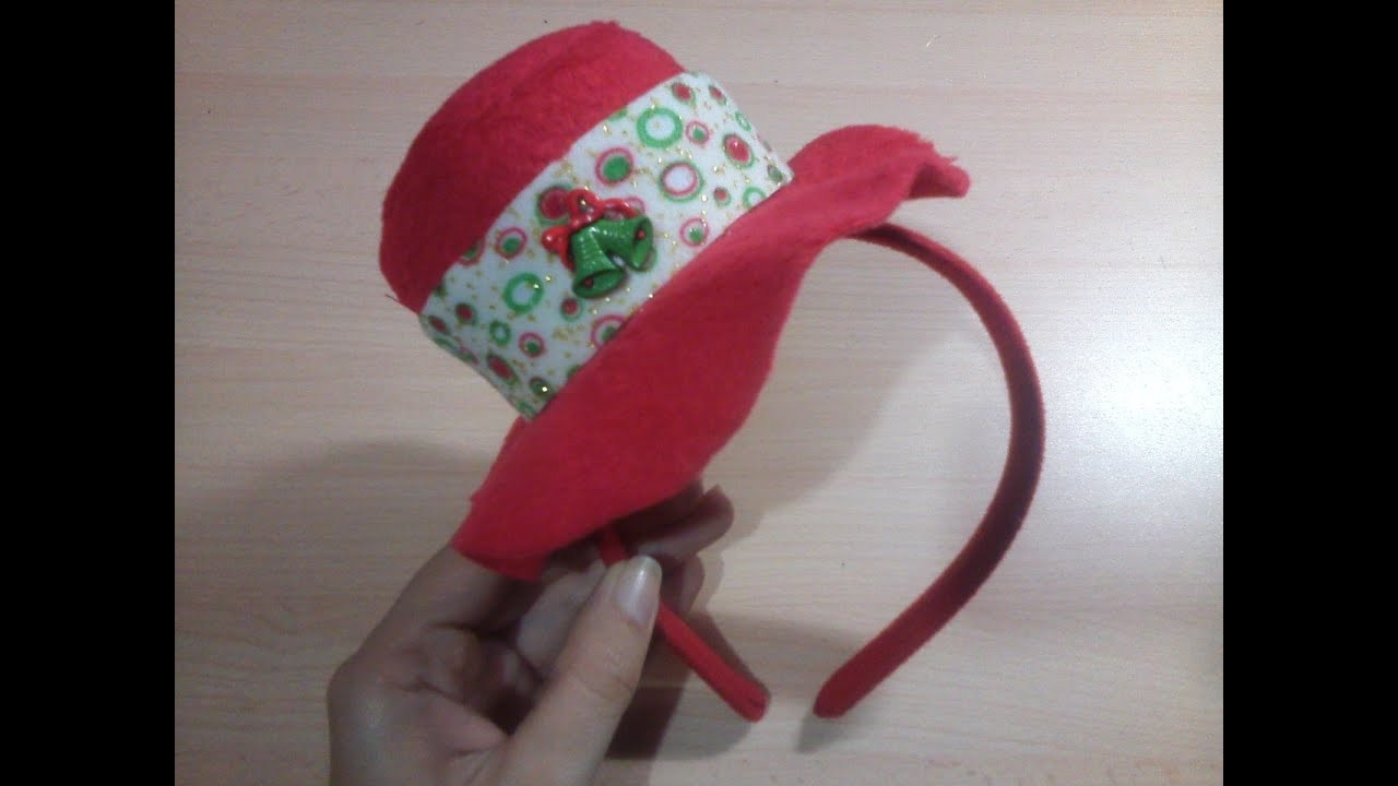 Diadema Navideña con Sombrero - Christmas headband hat
