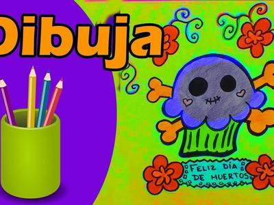 Dibuja Panquesito Halloween Dia de Muertos