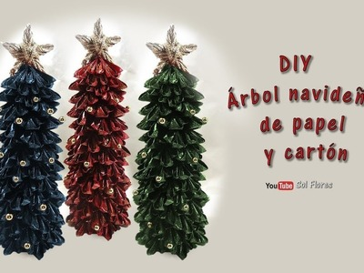 DIY Árbol navideño de papel y cartón - DIY Christmas tree made of paper and cardboard