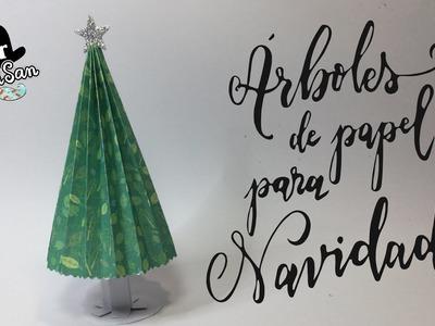 DIY : Árboles de navidad De Papel Decorado de Scrap plegado