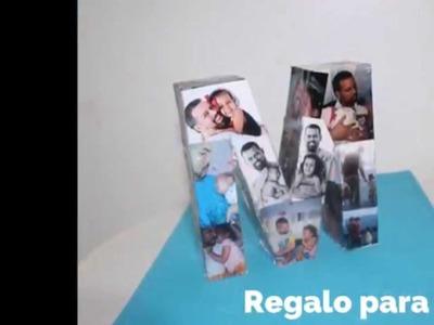 DIY Collage de fotos para papá