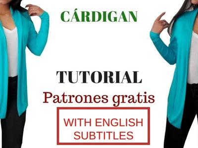 DIY Cómo hacer un cárdigan  corte y confección. HOW TO MAKE A CARDIGAN (CUT AND CONFECTION)