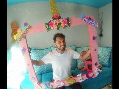 DIY ,  como hacer un cuadro selfie #unicornio