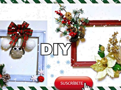 DIY CUADROS NAVIDEÑOS  ECONOMICOS Y SUPER FACILES.DOLLAR TREE. crafts. manualidades 2017