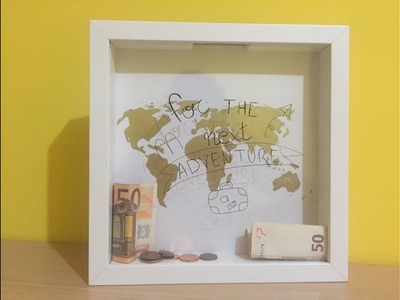 DIY Home Decor: Hucha con un marco de fotos