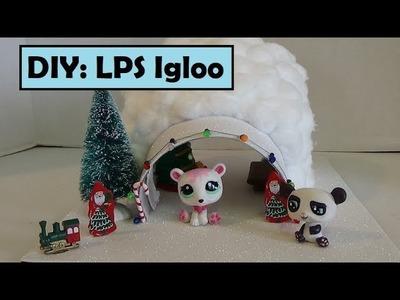 DIY LPS Igloo - Tutorial casa de Navidad para Littlest Pet Shop