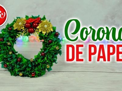 DIY Mini corona navideña con papel | DREEN NAVIDAD