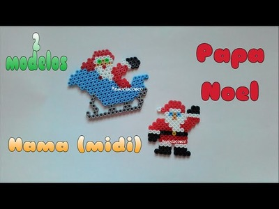DiY Navidad: Papa noel de Hama. pere noel perler. santa claus
