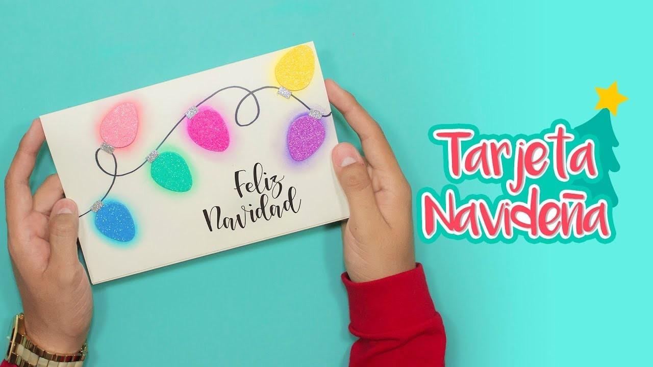 DIY: Tarjeta Luces Navideñas de Gis Pastel - ESPECIAL DE NAVIDAD