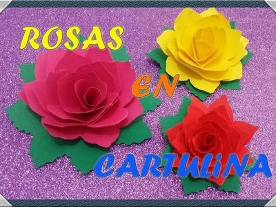 """Facilarte """"Paso a Paso""""  -  Rosas en Cartulina"""