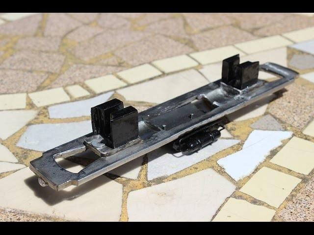 Ferromodelismo H0, Fabricacion de Chasis en Acero Inoxidable de Locomotora Diesel Escala H0