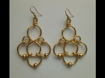 (HOW TO MAKE EASY WIRE EARRINGS) COMO HACER UNOS PENDIENTES FACILES DE ALAMBRE