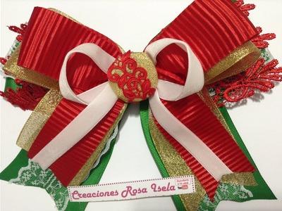 Lazo  grande navideño VIDEO No.531 creaciones rosa isela