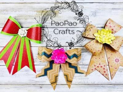 Lazos o moños en papel | Cómo realizar lazos o moños | Moldes GRATIS | How to make paper bows