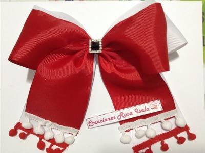 Moño fácil de Santa VIDEO No.532 creaciones rosa isela