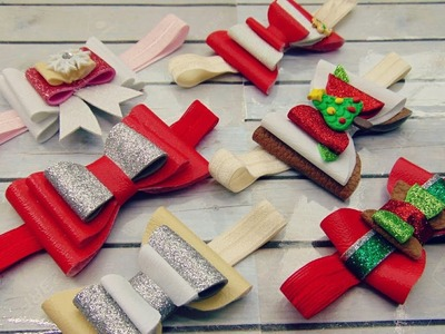 Moños de vinilo. moños navideños + RIFA DE TIARAS