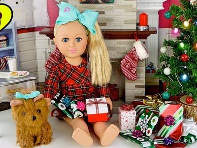 Muñeca Jojo Siwa Abre Regalos y Juguetes de Navidad!