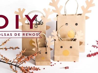 Navidad creativa: cómo hacer una bolsa de reno para regalar | DIY Westwing