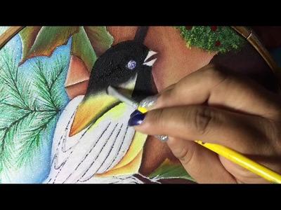 Pintura En Tela Casita De Pajaritos # 3 Con Cony