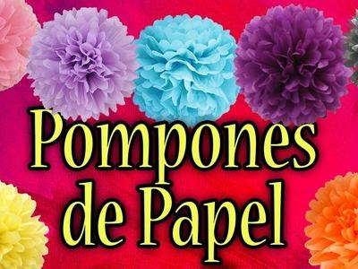 Pompones de papel | 4 formas diferentes de hacerlos ????