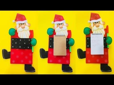 Porta Notas Navideño paso a paso - Craft DIY manualidad navidad en foamy.goma eva.microporoso