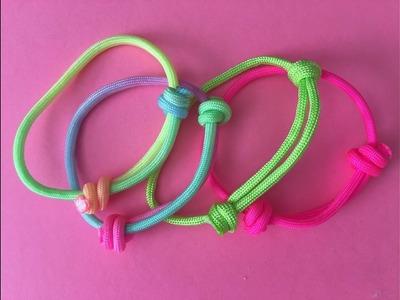 Pulseras de la amistad.Sliding Knot frienship Paracord Bracelet