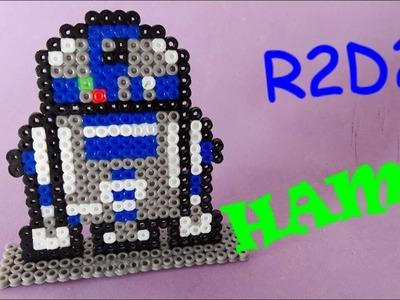 R2D2 STAR WARS Hama Perler (Robot en Hama beads)
