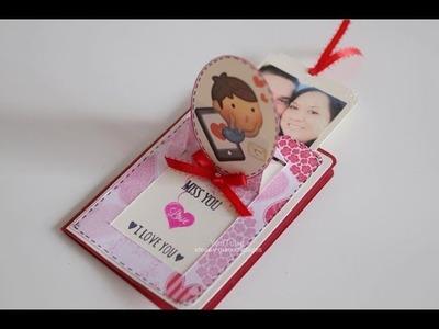 Tarjeta con mensaje oculto ideal para este dia del amor y la amistad | 14 de febrero | san valentin