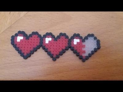 The legend of zelda hearts hama beads mini