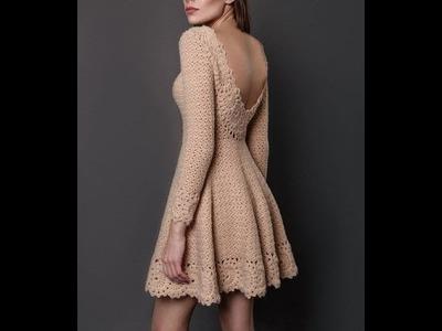 Top 10 crochet vestidos de mujer modernos y favorecedores tejidos a mano con ganchillo