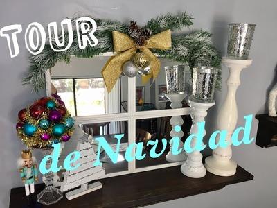 TOUR DE NAVIDAD 2017????⛄ CHRISTMAS HOME TOUR | SALA DE TV, COMEDOR Y COCINA