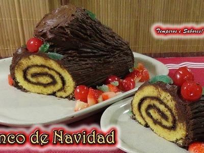 TRONCO DE NAVIDAD postre especial para la mesa navideña