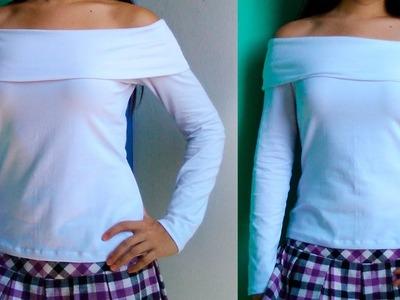 TUTORIAL: Cómo confeccionar un Suéter con Escote Barco (con patrones)