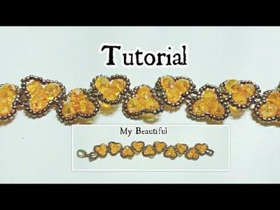 #09 DIY Elegante pulsera. How to make