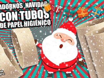 3 ADORNOS NAVIDEÑOS CON TUBOS DE PAPEL HIGIÉNICO|Manualidades Reciclaje|DIY